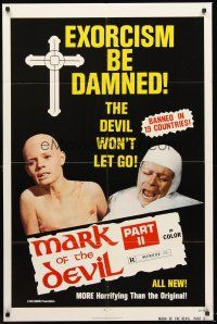 4g604 MARK OF THE DEVIL 2 1sh '74 banned in 19 countries, more horrifying than the original!