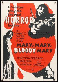 4g608 MARY MARY BLOODY MARY 1sh R80s gruesome different art of woman w/knife!