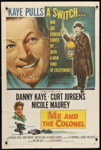 4g613 ME & THE COLONEL 1sh '58 Danny Kaye in a dual role, Curt Jurgens, Nicole Maurey