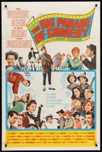 4g617 MGM'S BIG PARADE OF COMEDY 1sh '64 W.C. Fields, Marx Bros., Abbott & Costello, Lucille Ball