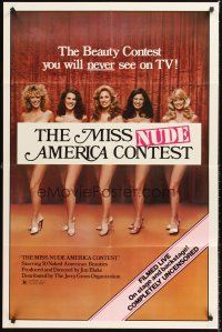 4g629 MISS NUDE AMERICA 1sh '76 The Contest, 90 minutes of American madness!
