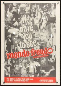 4g631 MONDO FREUDO 1sh '68 psychiatric sex, many topless women, too real for the immature!