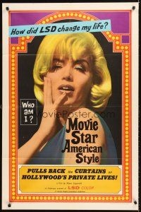 4g639 MOVIE STAR AMERICAN STYLE OR; LSD I HATE YOU 1sh '66 life with LSD, sexy Monroe look-alike!