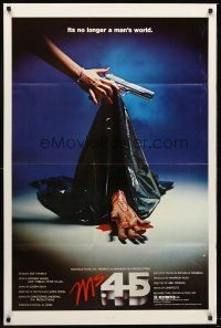 4g641 MS. .45 1sh '82 Abel Ferrara cult classic, cool different bloody hand & bodybag image!