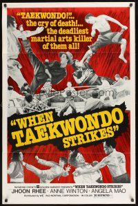 4g967 WHEN TAEKWONDO STRIKES 1sh '74 Jhoon Rhee, the cry of death, cool kung fu images!