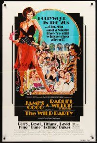 4g978 WILD PARTY 1sh '75 AIP, super sexy flapper Raquel Welch, art by Akimoto!