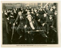 4h039 50,000,000 FRENCHMEN 8x10 still '31 wacky image of Olsen & Johnson chased by lots of police!