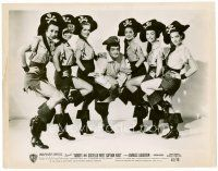 4h041 ABBOTT & COSTELLO MEET CAPTAIN KIDD 8x10 still '53 Lou surrounded by six sexy pirate girls!