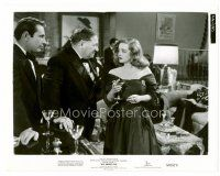 4h053 ALL ABOUT EVE 8x10 still '50 stage star Bette Davis looks at Gary Merrill & Gregory Ratoff!