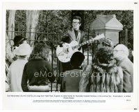 4h056 AMERICATHON 8x10 still '79 Elvis Costello plays guitar & sings in Hyde Park to raise money!