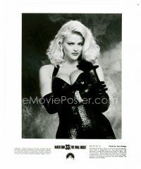 4h065 ANNA NICOLE SMITH 8x10 still '94 sexy portrait in tight leather from Naked Gun 33 1/3!