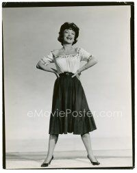 4h067 ANNE BAXTER 8x10 still '61 laughing full-length unretouched proof by Cronenweth!