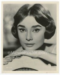 4h073 AUDREY HEPBURN 8x10.25 still '57 beautiful super close up from Love in the Afternoon!