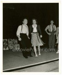 4h077 BABES ON BROADWAY 8x10 still '41 great full-length image of Mickey Rooney & Judy Garland!