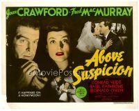 4h009 ABOVE SUSPICION color 8x10 still '43 Joan Crawford, Fred MacMurray, looks like a title card!
