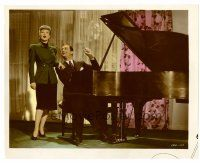 4h024 LADY BE GOOD color 8x10 still '41 Robert Young plays piano while Ann Sothern sings!