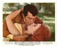 4h030 SILENCERS color 8x10 still #7 '66 Dean Martin about to kiss Lovey Kravezit Beverly Adams!