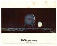 4h006 2001: A SPACE ODYSSEY color English FOH LC #14 '68 Stanley Kubrick, c/u pod landing on moon!