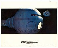 4h007 2001: A SPACE ODYSSEY color English FOH LC #15 '68 Kubrick, pod approaching ship in space!