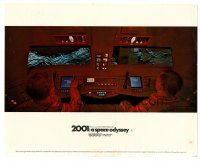 4h004 2001: A SPACE ODYSSEY color English FOH LC '68 close up of Dullea & Lockwood at controls!