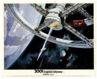 4h005 2001: A SPACE ODYSSEY color English FOH LC '68 Stanley Kubrick, art of space wheel by McCall!