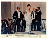 4h028 MY FAIR LADY color English FOH LC '64 Rex Harrison & Hyde-White with Audrey Hepburn at ball!