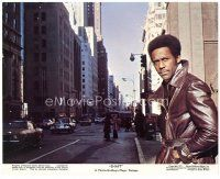 4h029 SHAFT color English FOH LC '71 great close up of Richard Roundtree on city street!