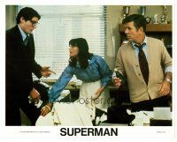 4h032 SUPERMAN 8x10 mini LC '78 Christopher Reeve as Clark Kent with Margot Kidder!