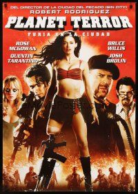 4r002 PLANET TERROR DS Argentinean '07 Robert Rodriguez, Grindhouse, sexy Rose McGowan with gun leg!