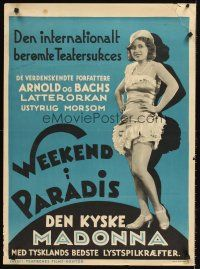 4r021 WEEKEND I PARADIS Danish '40s Franz Arnold and Ernst Bach, image of sexy woman!