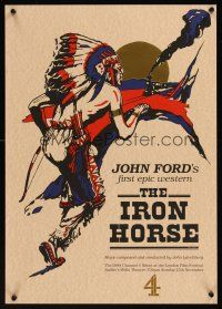4r034 IRON HORSE foil English half crown R94 O'Brien in Ford's transcontinental railroad epic!