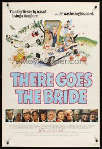 4r028 THERE GOES THE BRIDE English 1sh '80 Tom Smothers, Twiggy, Martin Balsam, Sylvia Sims!