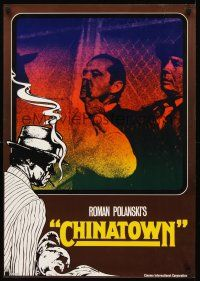 4r042 CHINATOWN teaser German '74 great image of Jack Nicholson's nose being cut by Roman Polanski