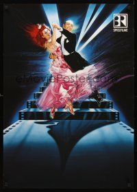 4r046 FRED ASTAIRE/GINGER ROGERS TV German '92 Renato Casaro art of most classic dancers!