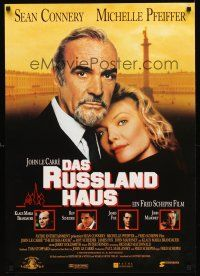 4r052 RUSSIA HOUSE German '91 great close-up of Sean Connery & Michelle Pfeiffer!