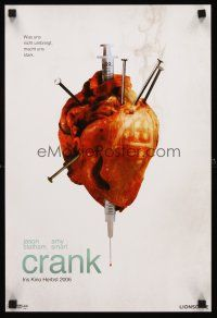 4r035 CRANK teaser German 12x19 '06 Jason Statham, wild image of abused heart!
