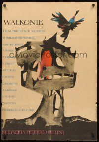 4r062 I VITELLONI Polish 23x33 '58 Federico Fellini's The Young & The Passionate, Cieslewicz art!
