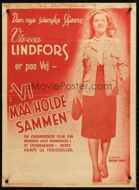 4r019 MORGONDAGENS MELODI Swedish 24x33 '42 great full-length portrait of young Viveca Lindfors!