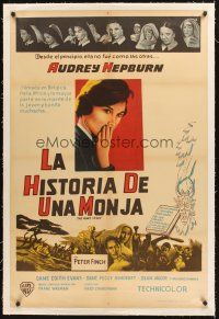 4w016 NUN'S STORY linen Argentinean '59 religious missionary Audrey Hepburn was not like the others