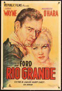 4w017 RIO GRANDE linen Argentinean '51 cool different of John Wayne & Maureen O'Hara by del Carmen!