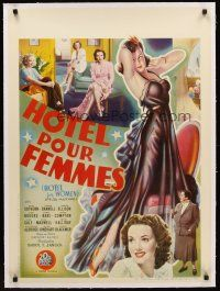 4w069 HOTEL FOR WOMEN linen Belgian '39 completely different art of sexy Linda Darnell & pin-up!