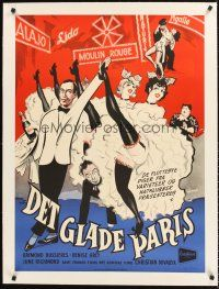 4w004 LA TOURNEE DES GRANDS DUCS linen Danish '53 art of sexy Moulin Rouge dancers by K. Wenzel!
