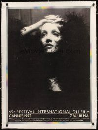 4w043 CANNES FILM FESTIVAL 1992 linen French 23x32 '92 portrait of Dietrich from Shanghai Express!