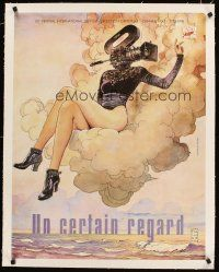 4w044 CANNES FILM FESTIVAL 1997 linen French 23x32 '97 art of sexy girl with camera head by Manara!