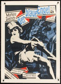 4w025 BLUE ANGEL linen German R1963 Josef von Sternberg, art of sexy Marlene Dietrich by Nosbisch!