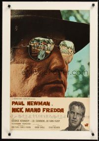 4w021 COOL HAND LUKE linen Italian photobusta '67 Paul Newman reflected in Woodward's sunglasses!