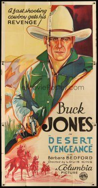 4x189 DESERT VENGEANCE 3sh R34 stone litho Buck Jones, a fast shooting cowboy gets his revenge!