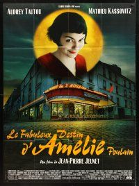 4x035 AMELIE French 1p '01 Jean-Pierre Jeunet, great image of Audrey Tautou over storefront!