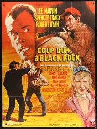 4x036 BAD DAY AT BLACK ROCK French 1p R69 Spencer Tracy, Lee Marvin, Robert Ryan, different art!