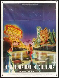 4x051 ONE FROM THE HEART French 1p '82 Coppola, different art of Las Vegas by Andre Bertrand!